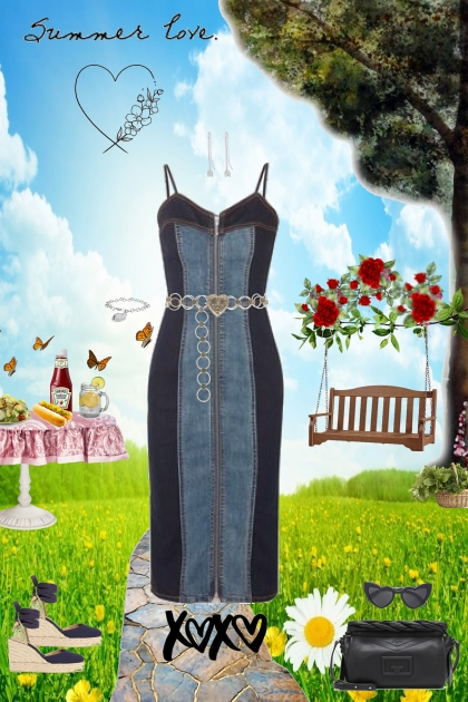 Summer Love: Denim Dress