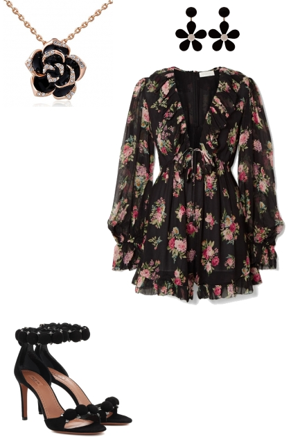 Black Night with a touch of Floral