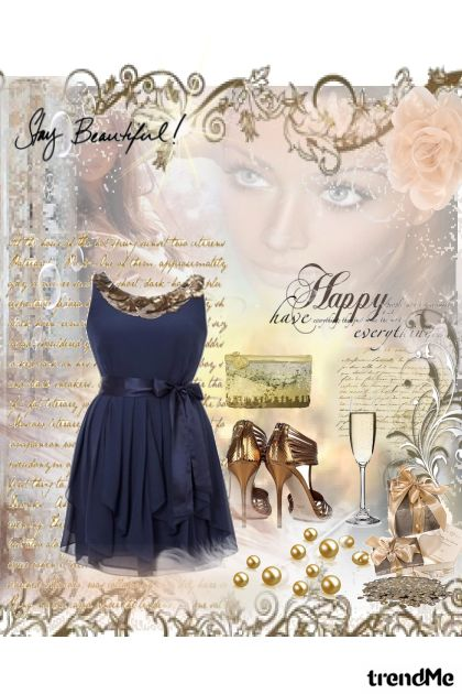 mala teget haljina