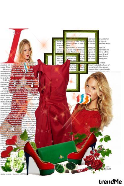 crvena haljina...