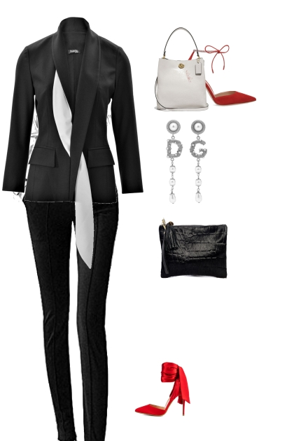 style discret with red