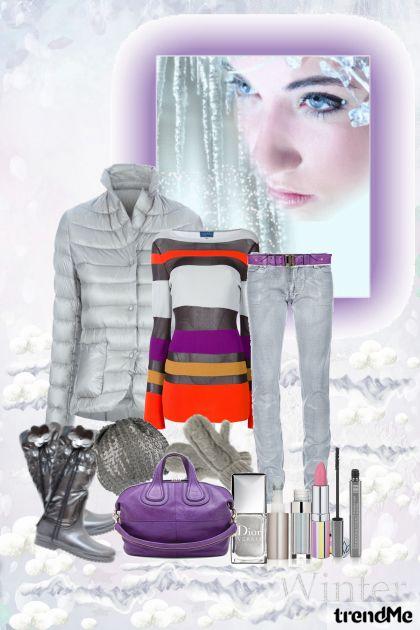 Silvery-purple winter !