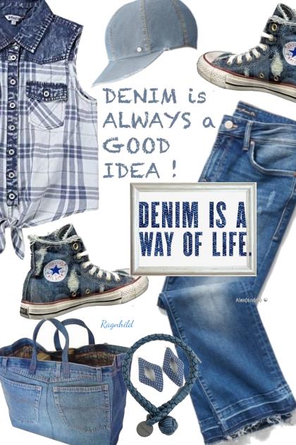 Denim Contest 1)- Combinazione di moda