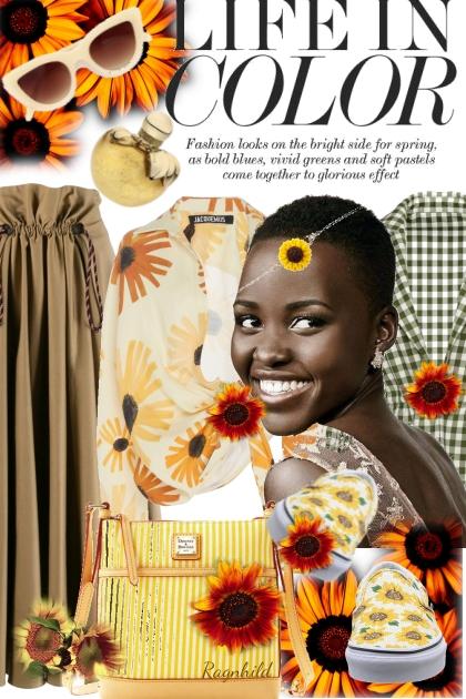 Sunflowers Contest 1)- Combinazione di moda