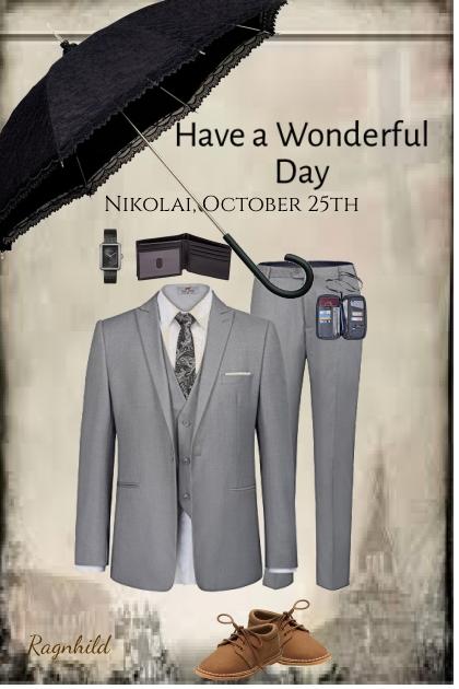 Til lykke med konfirmasjonsdagen,Nikolai