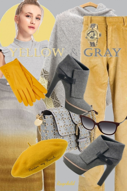 Yellow &Grey