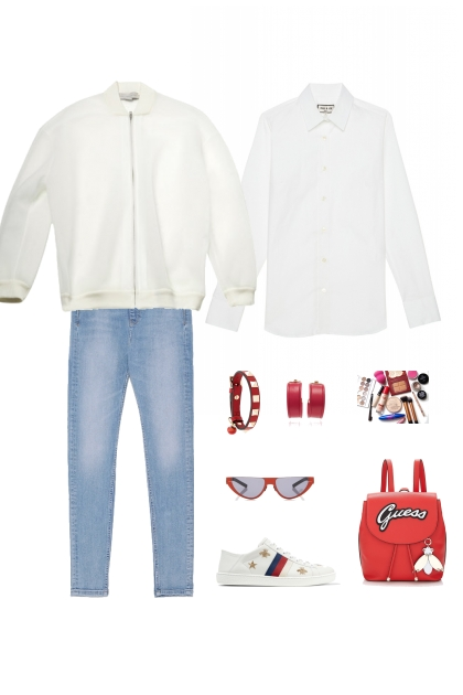Спорт с джинсами и рубашкой