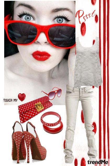 red polka street style <3