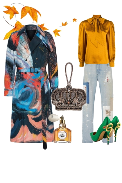 The Eccentric weekend outfit for a pear shape