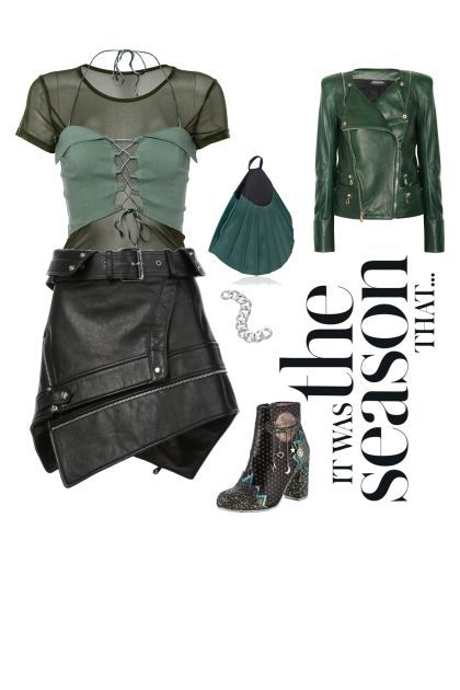 The Edgy Weekend look for an Triangle shape