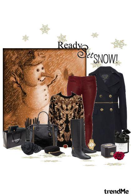 snježni shopping!