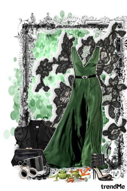 Crno - zelena elegancija