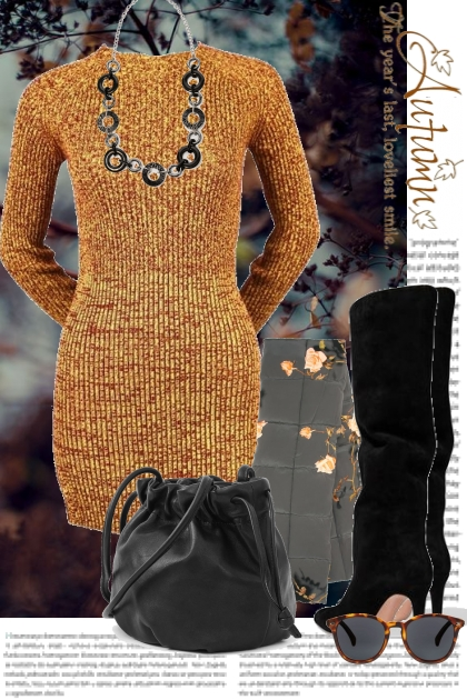 Autumn Sweater Dress- Fashion set