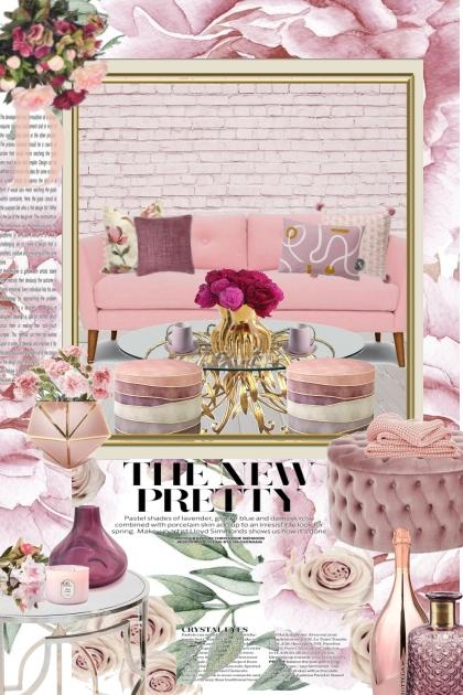 Pretty In Pinks: Monochrome Interior