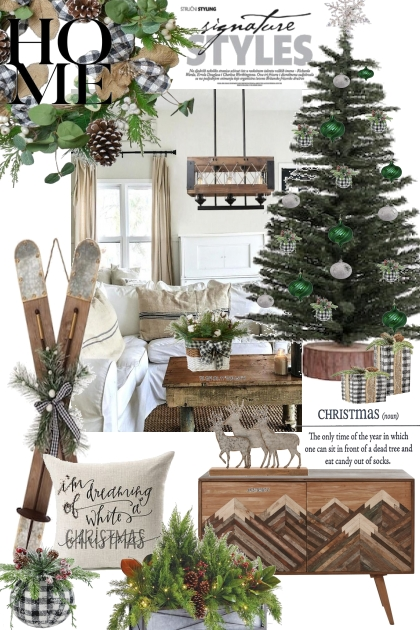 Holiday Interiors: Gingham and Green