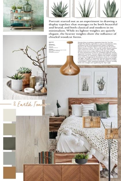 Earthy Tones:  Bedroom