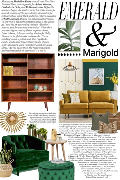 Interior Design:  Emerald & Marigold
