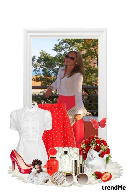 Crveno bijeli kontrast