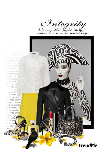 Black & white philosophy with a little yellow