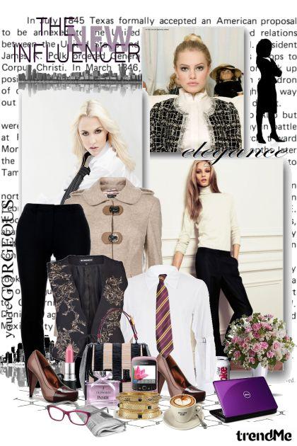 Poslovne žene kroje modu- Fashion set