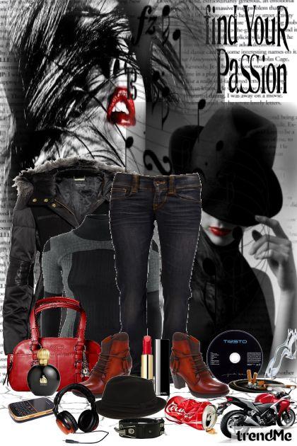 Rock is my passion- Modna kombinacija