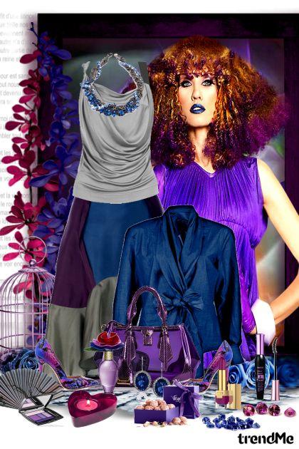 Deep blue and purple