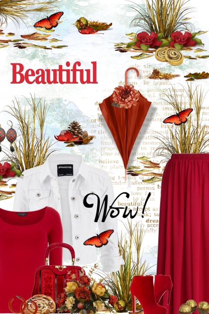 Beautiful Red and White