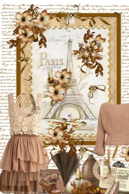 Vintage Paris in beige and browns