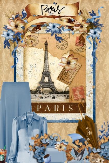 Paris brown & Blue