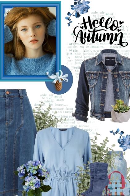 Denim blue Autumn