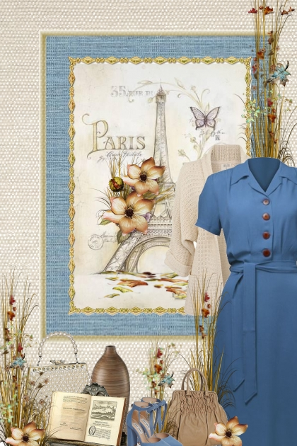 Vintage fall (blue dress)