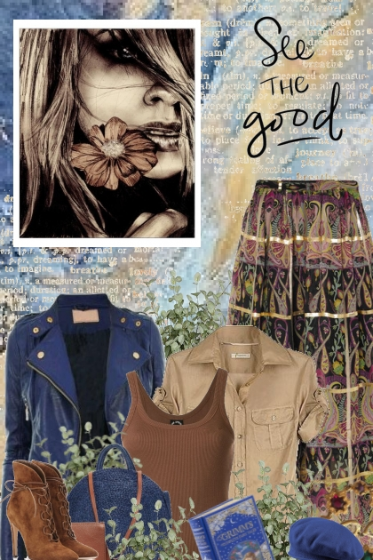 boho brown & blue