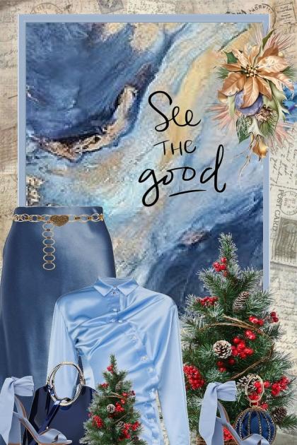 Blue Satin Christmas