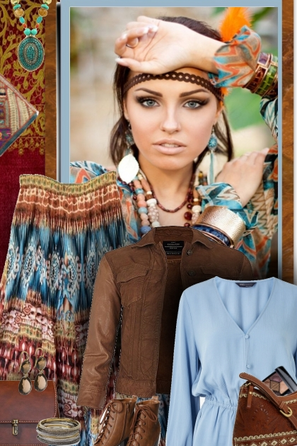 Boho blues & browns