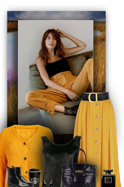 Skirt or Pants Yellow & black