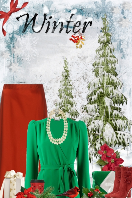 red & green Christmas