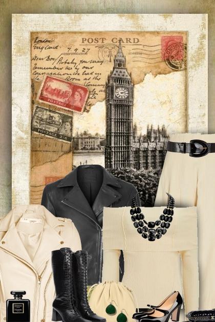 beige & black vintage