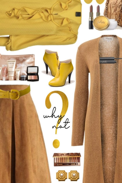 mustard and light brown