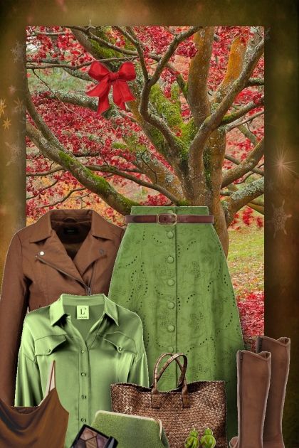 brown & green layers
