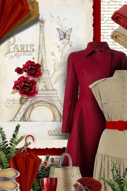 vintage red tan
