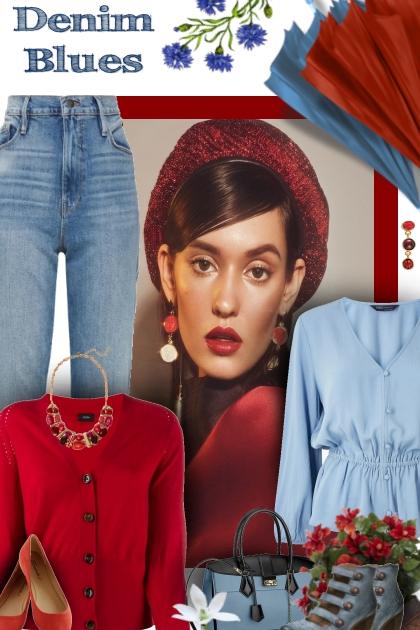 blue & red- Модное сочетание