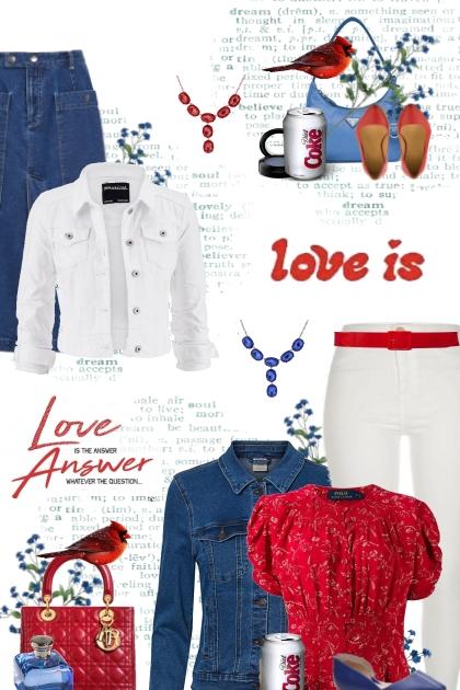 red white blue 3- Fashion set