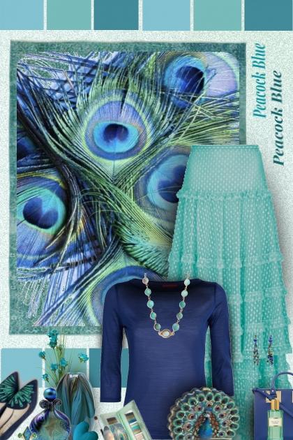 peacock blues- Модное сочетание