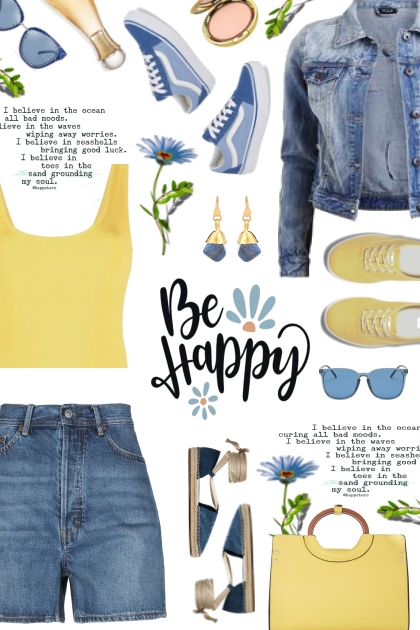 blue yellow- Fashion set