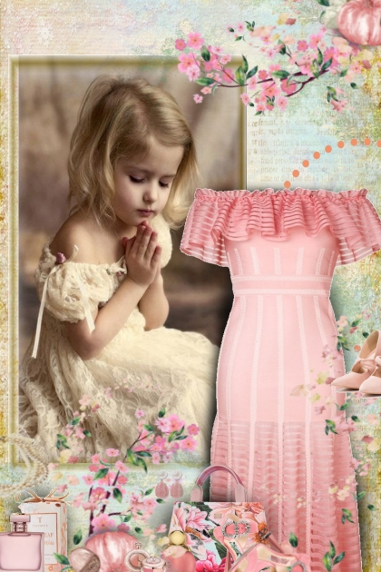 brides maid dress & flower girl- Fashion set