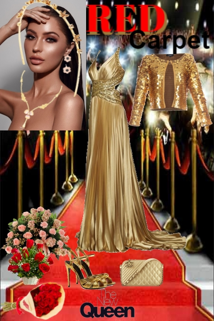 Red Carpet in Gold
