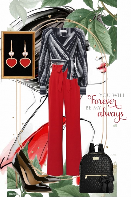 Red & Black- Modna kombinacija