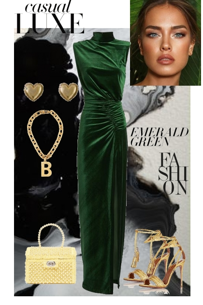 Emerald Green- Modna kombinacija