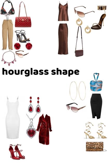 hourglass shape