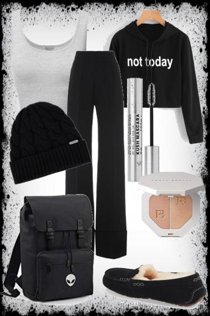 Cozy Black Outfit